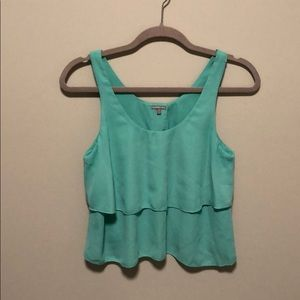 Charlotte Russe teal tiered tank !